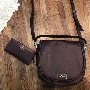 Purple Kate Spade purse